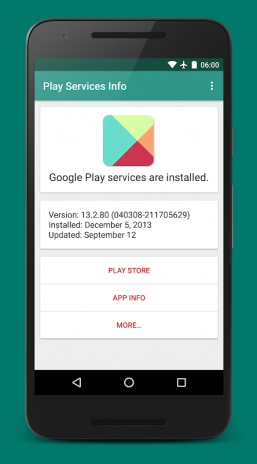 Play Services Info (Update) 0 15 Download APK for Android