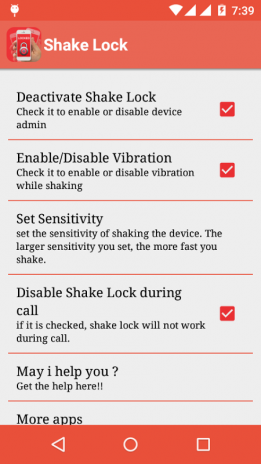 Advanced Shake Lock 1 7 Download APK for Android - Aptoide