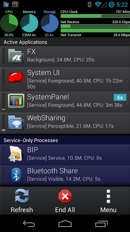 SystemPanel App / Task Manager screenshot 1