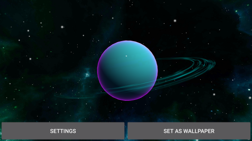 3D Solar System LWP screenshot 1