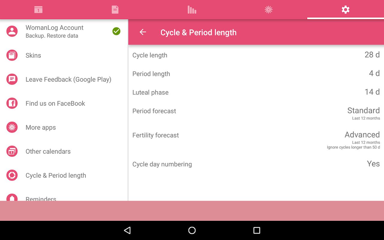 WomanLog Period Tracker & Calendar screenshot 14