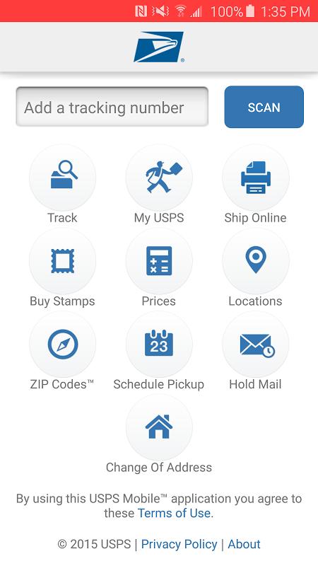 USPS MOBILE® screenshot 1