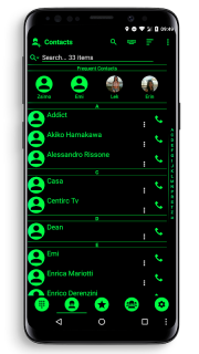 Theme for RocketDial and ExDialer Flat BGreen screenshot 5