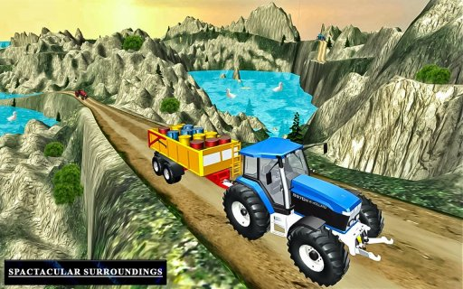 Heavy Tractor Trolley Driver Simulator Game screenshot 4