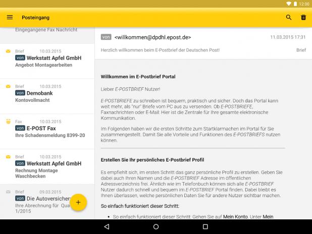 E Post Briefe Und Faxe Epostapp200 Laden Sie Apk Für Android