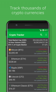 Crypto Tracker - Bitcoin, Ethereum + more tracker screenshot 1