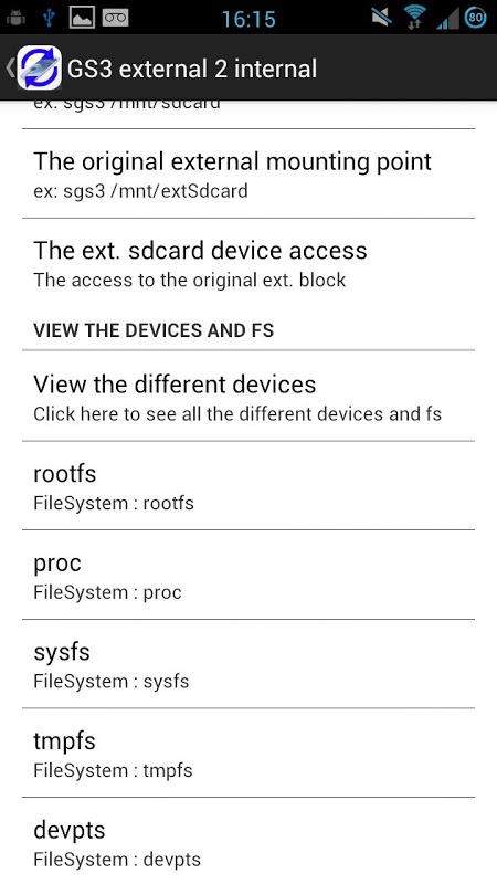 Root External 2 Internal SD screenshot 2