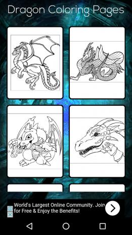 Dragon Coloring Book Screenshot 1