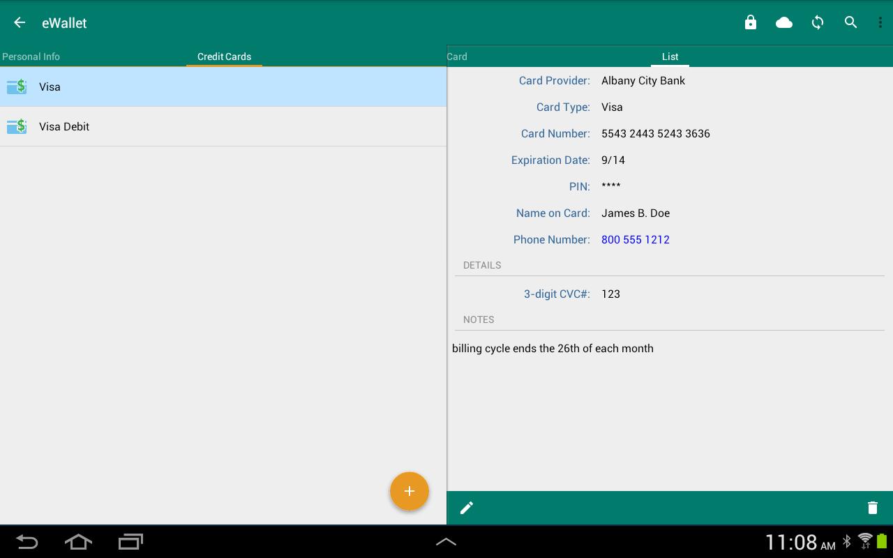 eWallet - Password Manager screenshot 2