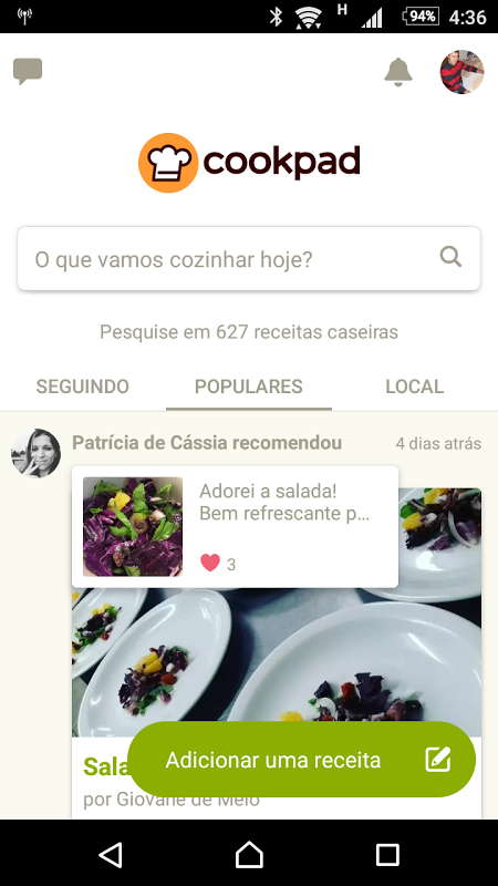 Cookpad - Receitas Caseiras screenshot 1