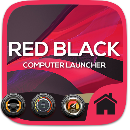 Red Black Theme For Computer Launcher