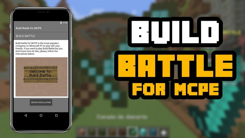 how to get minecraft pe build battle server