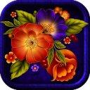 TSF NEXT ADW LAUNCHER BRIGHT ORANGE FLOWERS THEME