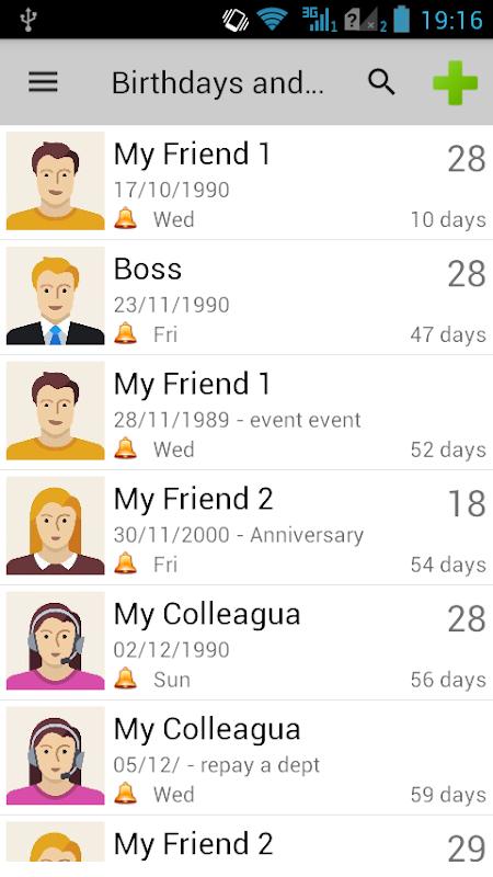 Birthdays & Other Events screenshot 1
