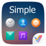 simple ii v launcher theme icon