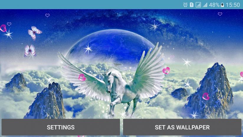 Unicorn Live Wallpaper Screenshot 10
