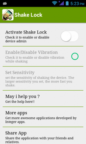 Shake Lock 1 2 Download APK for Android - Aptoide