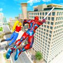 robot volante della eroe di corda città criminale