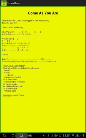 Nirvana Lyrics And Chords 40 Download Apk For Android Aptoide