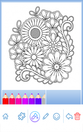 Flower Mandala Coloring Book Screenshot 4