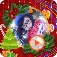 christmas photo video maker icon