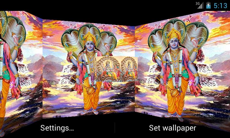 Lord Vishnu 3D. Live Wallpaper