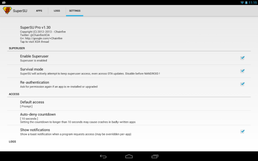 SuperSU Pro screenshot 5