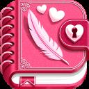 Tagebuch App mit Passwort für Mädchen
