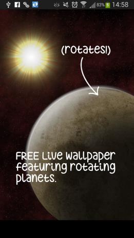 Rotating Planet Live Wallpaper Screenshot 10