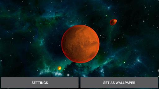 3D Solar System LWP screenshot 3
