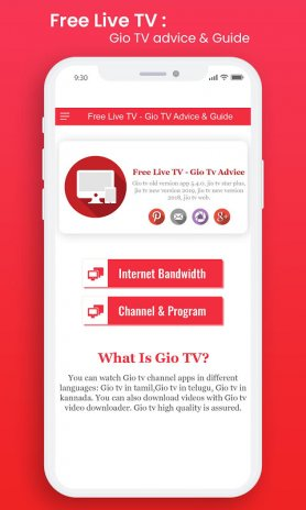 Free Live TV - Gio Tv Advice & Guide New Update Download APK for
