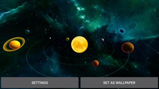 3D Solar System LWP screenshot 8