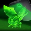 Drache Hologrammlaserkamera