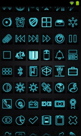 Icon Pack - Neon Blue 1 9 Download APK for Android - Aptoide