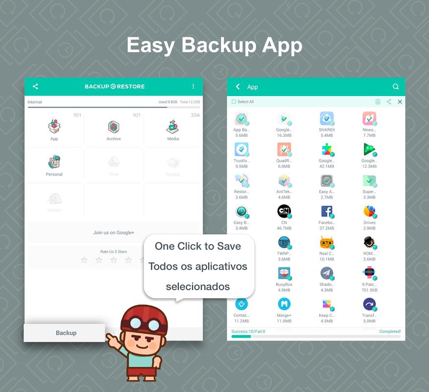 App Backup Restore Transfer screenshot 1