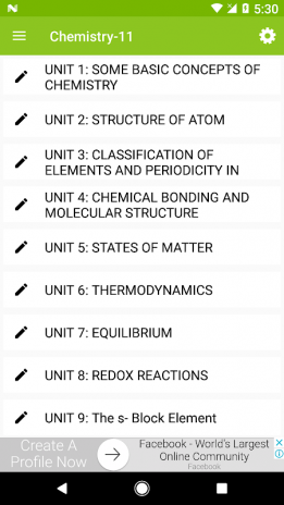 Class 11 Chemistry Notes 1 0 1 Download APK for Android