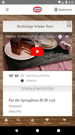 Dr Oetker Rezeptideen 3 5 5 загрузить Apk для Android Aptoide