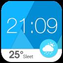 Material design weather widget