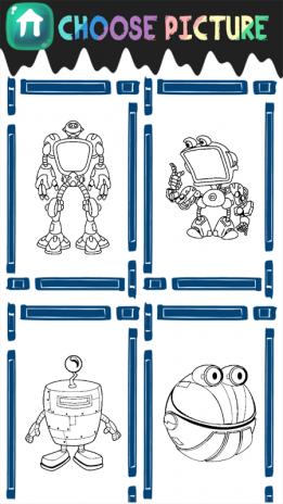 ausmalbilder coole roboter - kostenlos zum ausdrucken