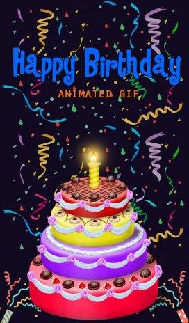Happy Birthday Animated Gif Screenshot 4