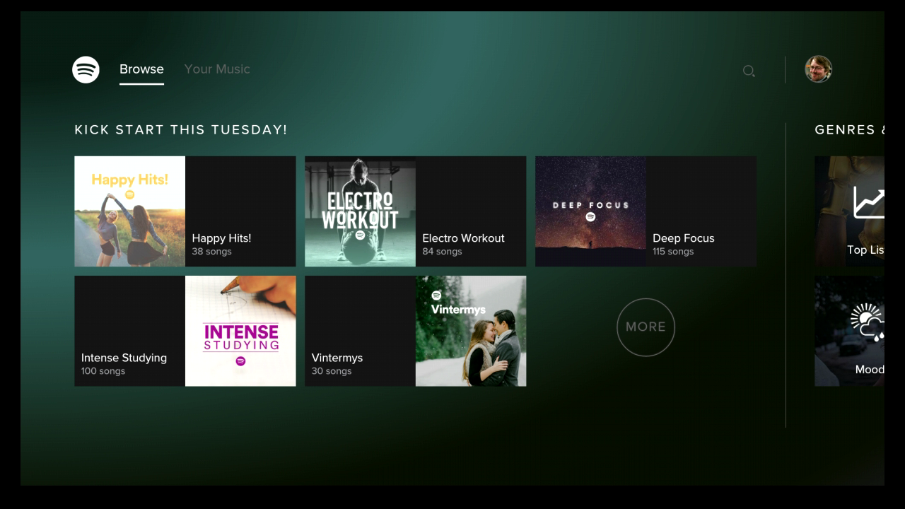 Spotify Music para Android TV screenshot 2