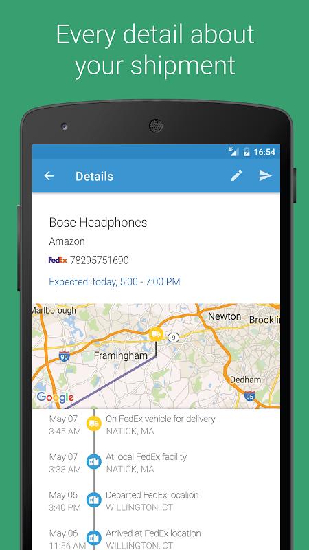ParcelTrack - Seguimento de encomendas UPS, DHL screenshot 2