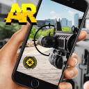 Simulator der Waffe AR-Kamera 3d