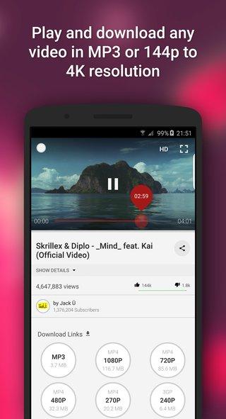 Youtube Video downloader - Videoder screenshot 2