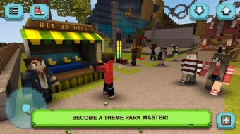 Theme Park Craft: Build & Ride Screenshot