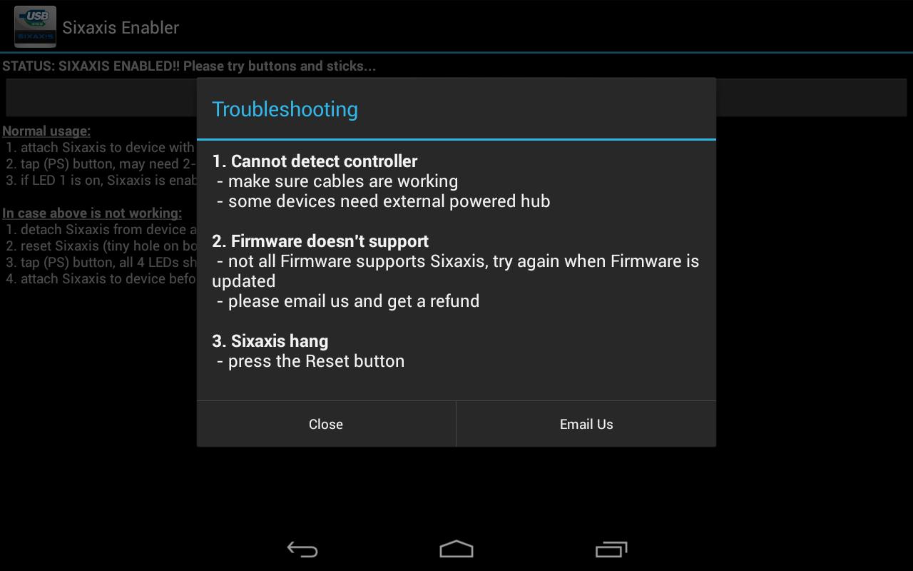 Sixaxis Enabler screenshot 2