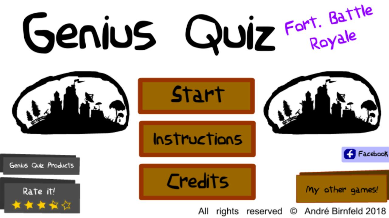 Genius Quiz Fort. Battle Royale screenshot 3