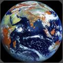 Vista de satélite de mapas ao