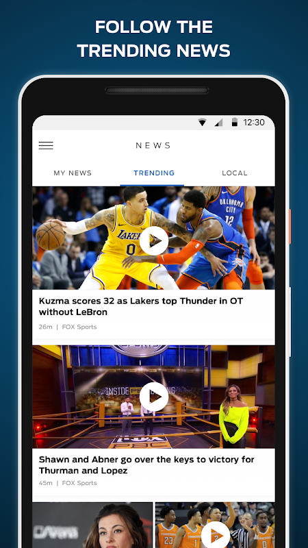 FOX Sports: Live Streaming, Scores & News screenshot 2