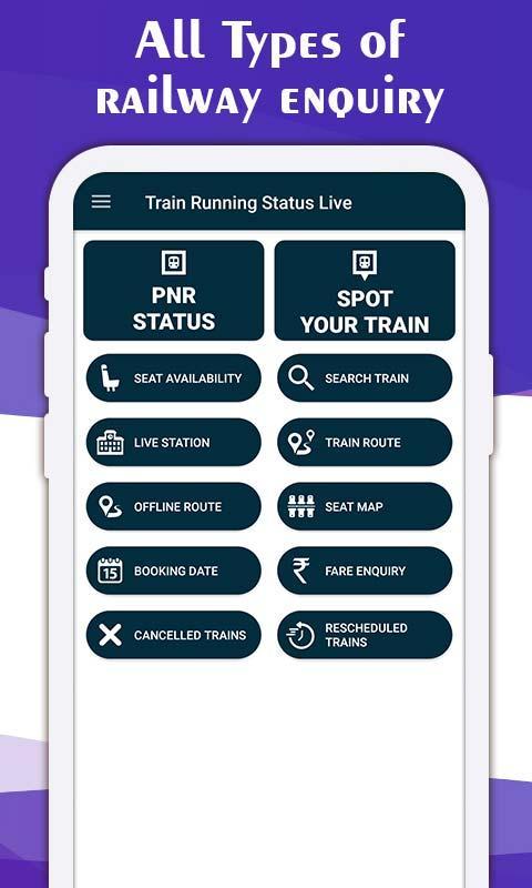 Live Train Running Status screenshot 1